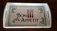 Bandeja Bon Appetit | Artesanal Gestual | Elo7