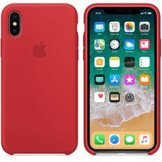 The Dark Red Silicone Case for iPhone Ten protects and fits snugly over the curves of your iPhone, without adding bulk. Buy now at apple.com #iphoneaccessories,