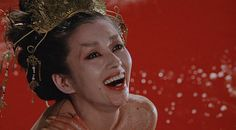 This chick taking a blood bath. (Legend of the Eight Samuri)