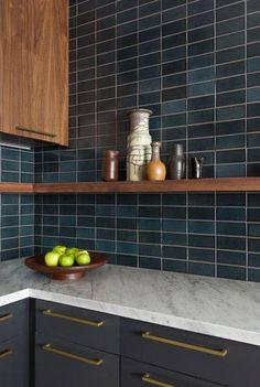 We were sooo debated this tile for a client but went with fggy morning instead.  This looks absolutely fab, though. PHOTOGRAPHY BY FIRECLAY TILE