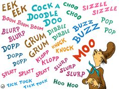 Class book for Mr. Brown Can Moo! Students select a onomatopoeia from the list or select their own. Fill in the blanks on the pag. Classroom Language, Classroom Fun, Classroom Activities, Book Activities, Homeschool Kindergarten, Reading Resources, Homeschooling, I Love School, School Stuff