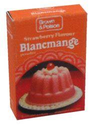Brown & Polson blancmange.  I wasn't really a fan; much preferred jelly