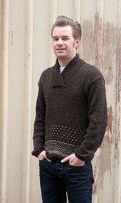 Ravelry: Oh, handsome boyfriend sweater pattern by Anna & Heidi Pickles
