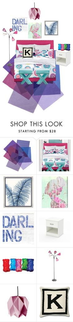 """""""""""K"""" room"""" by cray-cray-cupcake ❤ liked on Polyvore featuring interior, interiors, interior design, home, home decor, interior decorating, PBteen, Barclay Butera, Oliver Gal Artist Co. and South Shore"""