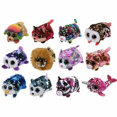From the Ty Beanie Baby Boos - Teeny Tys collection. Teeny Tys are designed to be stackable plush. The bottom of the Teeny Tys are made of a soft micro fiber so it can be used to clean the screen of your phone or other electronic screens too! Beanie Boo Dogs, Ty Beanie Boos Collection, Ty Peluche, Ty Stuffed Animals, Stone Art Painting, Baby Alive Dolls, Cute Plush, Harry Potter, Display Stands
