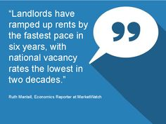 Quote from Ruth Mantell, Economics Reporter at MarketWatch - Monthly Market Report January 2015 #LoveYourHome #RealEstate #Homes