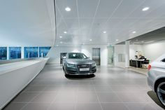 Audi Center Amsterdam, The Netherlands by Jacobs Architekten BV - done with tiles by AGROB BUCHTAL