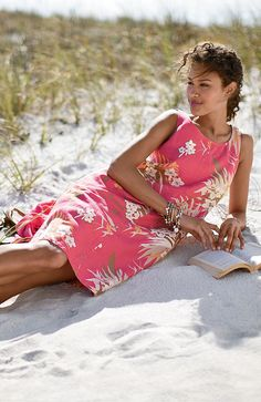dresses > printed linen tank dress at J. Bonheur Simple, Summer Outfits, Summer Dresses, Miss Dress, Beach Day, Palm Beach, A Perfect Day, Summer Time, Summer Days