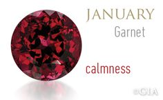Deep red garnets resemble pomegranate seeds, which is where the word garnet is thought to be derived from. #GIABirthstones.
