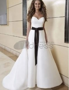 A-Line 2 in 1 Satin Sweetheart Neckline Wedding Dress with Convertible  Skirt Sweetheart Wedding. Sweetheart Wedding DressPlus Size ... 563fc0a3a25a