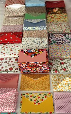 Patterned envelopes! Find any envelope pattern, and head straight to patterned paper. Such a pretty spring thing.