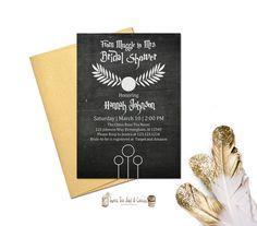 Harry Potter Bridal Shower Invitation Harry Potter