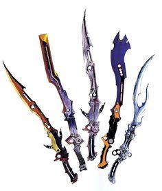 Lightning's gunblades, Final fantasy XIII