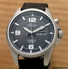 Seiko Kinetic – SMY143P1. This is one of my dream watch. powered by kinetic, simple classic timeless design, has a nylon band. great color combination too.