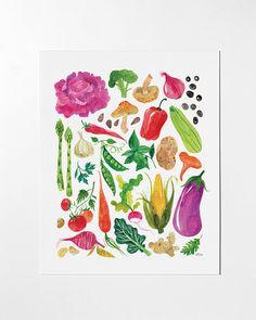 VEGGIES - 8x10 art print