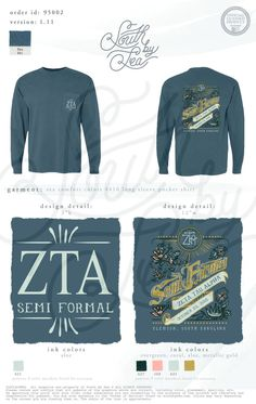 Zeta Tau Alpha | ZTA | Zeta | Semi Formal | Clemson NC | South by Sea | Greek Tee Shirts | Greek Tank Tops | Custom Apparel Design | Custom Greek Apparel | Sorority Tee Shirts | Sorority Tanks | Sorority Shirt Designs