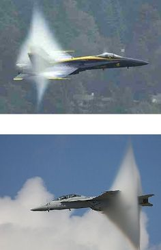 More jets breaking the sound barrier.  Ever see the sound barrier before?