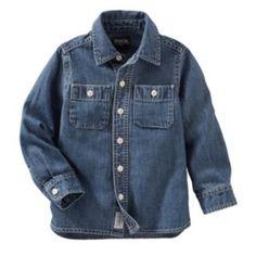 Toddler+Boy+OshKosh+B'gosh+Woven+Denim+Button-Down+Shirt