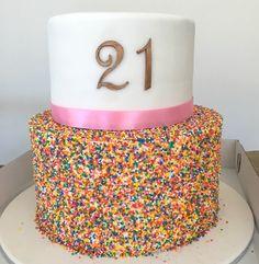 Soooo yum and sooo fun. 21st Birthday, Birthday Cake, Sprinkles, Cakes, Desserts, Fun, Tailgate Desserts, Deserts, Cake Makers