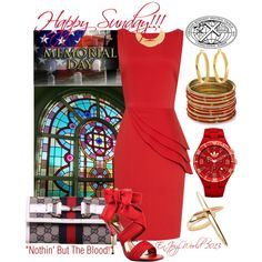 """""""HAPPY SUNDAY!!! """"Nothin' But The Blood!"""""""" by enjoyzworld on Polyvore"""