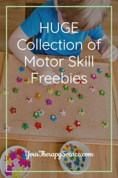 Huge collection of fine motor, gross motor and visual perceptual freebies Motor Skills Activities, Gross Motor Skills, Activities To Do, Pediatric Occupational Therapy, Physical Therapist, Speech And Language, Pediatrics, Special Education, Physics