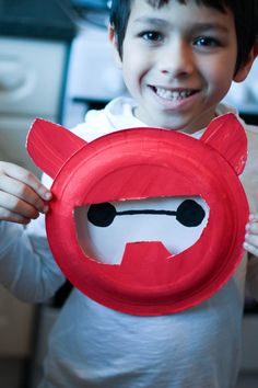 disney big hero 6 craft paper plate baymax with armour
