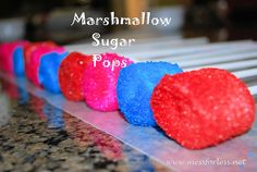Colorful Sugar Covered Marshmellow