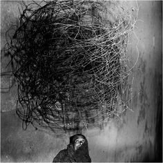 Roger Ballen, Twirling wires, 2001 (Shadow Chamber)