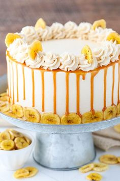 This Caramel Banana Layer Cake is delicious! Moist banana cake layers are covered in caramel sauce and frosted with more caramel frosting! Two of my favorite things in one awesome cake! You may or may not know this already, but the hubs and I started dating back when we were 17 – babies! Our first …