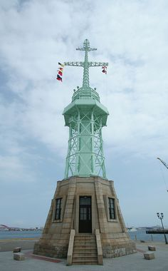 Kobe Harbour Lighthouse, Japan, by lets.book, via Flickr