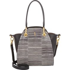 Maiyet Mini Peyton Tote (26,715 MXN) ❤ liked on Polyvore featuring bags, handbags, tote bags, white, white tote, mini handbags, stripe handbag, striped purse and mini tote bag
