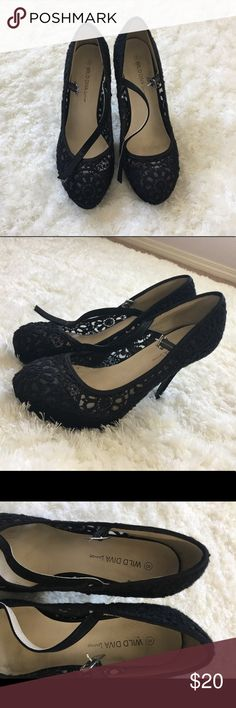 ❗️Black lace heels - size 8❗️ Black lace heels for sale. Size 8. Great condition. Shoes Heels