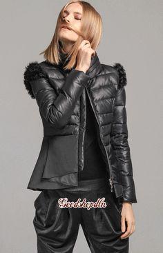 Fashion Womens Duck Down Coat Turn Dow Collar Short Winter Jacket Falbala Bottom   eBay