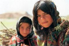 TWO GIRLS FROM BAKHTIARI TRIBE   N