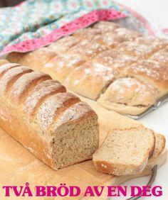 Två bröd av en deg