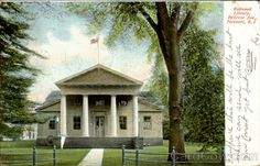 The first classical style building in the Colonies: the Redwood Library, Bellevue Ave. Newport, RI. 1906 postcard.