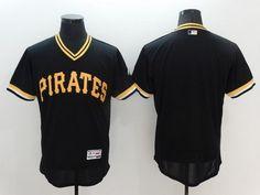 Men's Pittsburgh Pirates Blank Black Pullover 2016 Flexbase Majestic Baseball Jersey