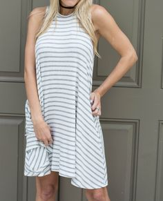 Striped Keyhole Back Tank Swing Dress ($30.00)