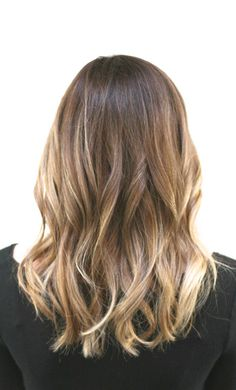 soft bronde hair color with honey highlights