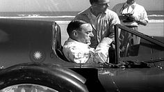 Sir Malcolm Campbell sets a speed record in his Bluebird car at Daytona ...