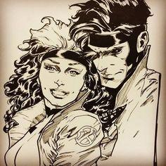 Основной альбом vol.5 | ВКонтакте Rogue Gambit, Scarlet Witch Marvel, Marvel Now, Art Archive, Art Pages, Types Of Art, Ink Art, Rogues, Comic Art