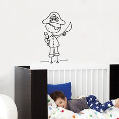 Enter to WIN an adorable wall decal of your choice from the new Cara Carmina collection from ADzif! #nursery #walldecal #pirates