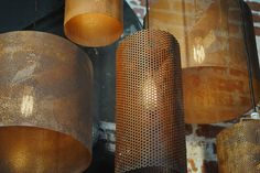 Industrial Lighting - would make great sconces/chandelier