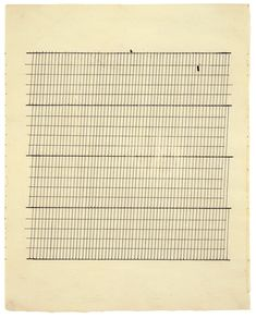"agnes martin paintings | Agnes Martin, ""Aspiration,"" 1960, ink on paper, 11 3/4 x 9 3/8 inches ..."