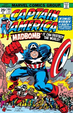 Captain America #193 (January, 1976) cover by Jack Kirby and John Romita Sr.
