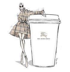 Burberry coffee... Megan Hess