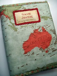 Travel Journal-Art Diary-Eclectic Design Book | Serafini Amelia| Travel Journal-Fabric Map Cover Australia