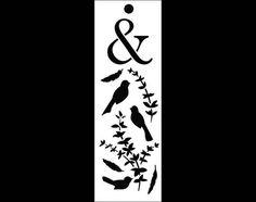 Twitterpaiting Bookmark Art Stencil  6 x 2  STCL902 por StudioR12