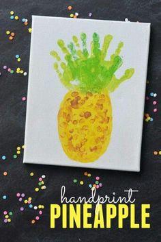 Pineapple handprint