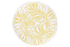 Bela Round Pillow, Yellow on OneKingsLane.com